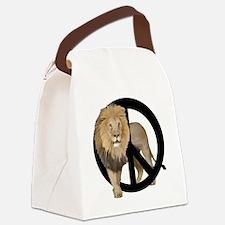 peace Lion Canvas Lunch Bag