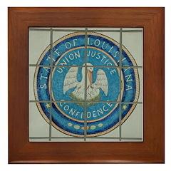 Louisiana Seal Framed Tile