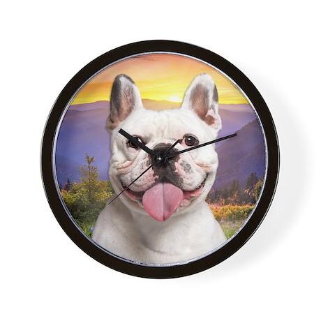 French Bulldog Meadow Wall Clock