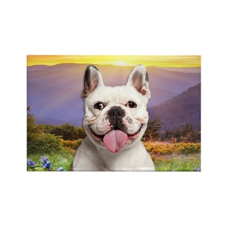French Bulldog Meadow Rectangle Magnet (10 pack)