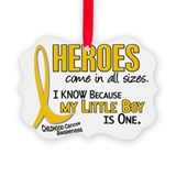 Childhood cancer son Picture Frame Ornaments