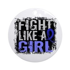 Licensed Fight Like a Girl 31.8 S Ornament (Round)
