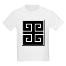 Greek Key Black T-Shirt