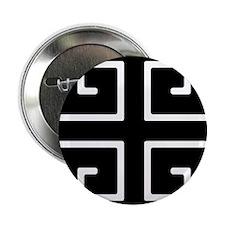 """Greek Key Black 2.25"""" Button"""