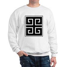 Greek Key Black Sweatshirt