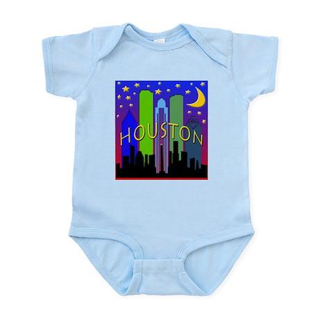 Houston Skyline nightlife Infant Bodysuit