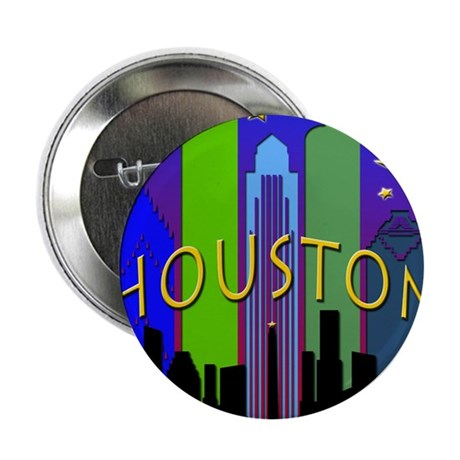 "Houston Skyline nightlife 2.25"" Button"