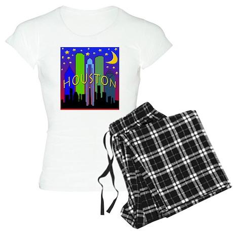 Houston Skyline nightlife Women's Light Pajamas