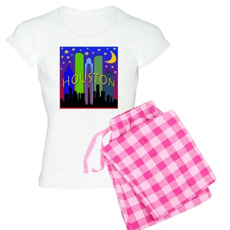 Houston Skyline nightlife Women's Light Pajamas