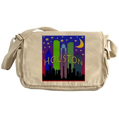 Houston Skyline nightlife Messenger Bag