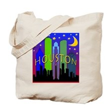 Houston Skyline nightlife Tote Bag