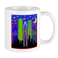 Houston Skyline nightlife Mug