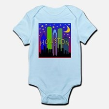 Houston Skyline nightlife Infant Bodysuit