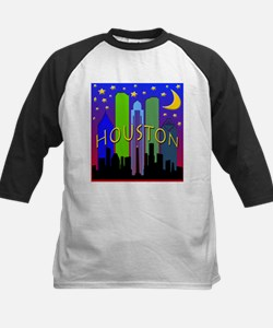 Houston Skyline nightlife Tee