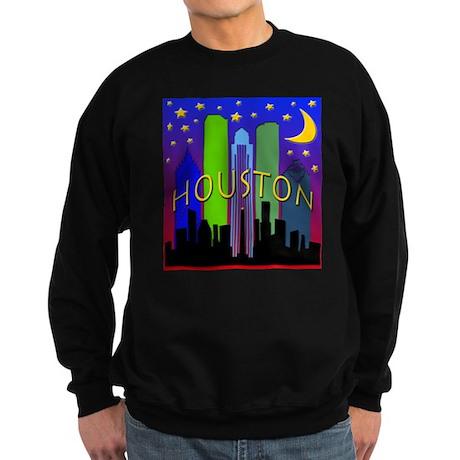 Houston Skyline nightlife Sweatshirt (dark)