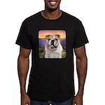 Bulldog Meadow Men's Fitted T-Shirt (dark)