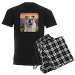 Bulldog Meadow Men's Dark Pajamas