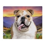 Bulldog meadow Blankets