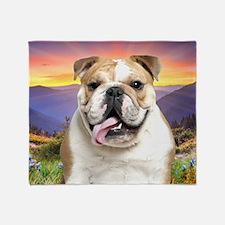 Bulldog Meadow Throw Blanket
