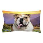 Bulldog Meadow Pillow Case
