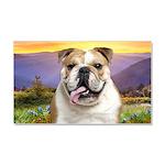Bulldog Meadow Car Magnet 20 x 12
