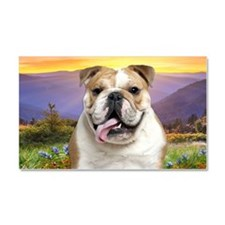 Bulldog Meadow Car Magnet 20 x 12