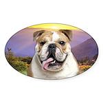 Bulldog Meadow Sticker (Oval 10 pk)