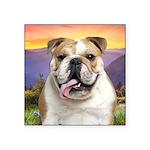 Bulldog Meadow Square Sticker 3