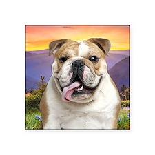 """Bulldog Meadow Square Sticker 3"""" x 3"""""""