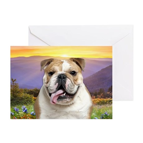 Bulldog Meadow Greeting Cards (Pk of 10)