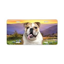 Bulldog Meadow Aluminum License Plate