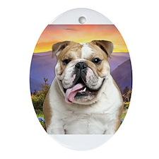 Bulldog Meadow Ornament (Oval)