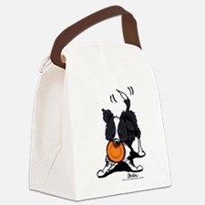 Border Collie Play Canvas Lunch Bag