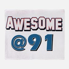 Awesome at 91 Throw Blanket