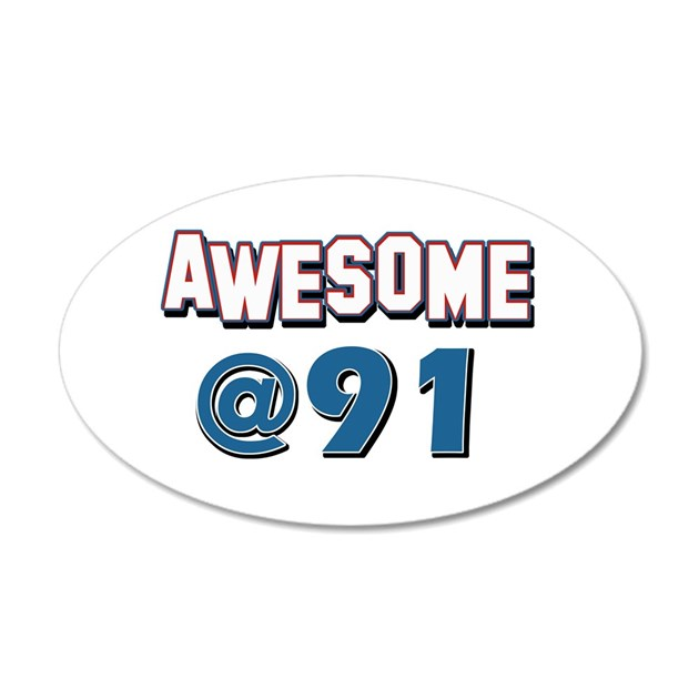 Awesome at 91 decal wall sticker by colossustees for Awesome wall decal directions