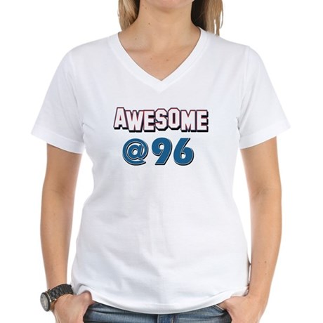 Awesome at 96 Women's V-Neck T-Shirt