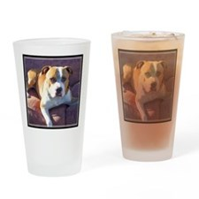 Pitbull Dog Drinking Glass
