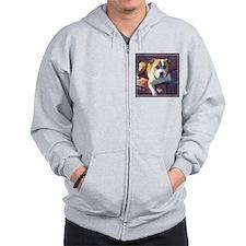 Pitbull Dog Zip Hoodie