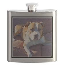 Pitbull Dog Flask