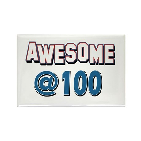 Awesome at 100 Rectangle Magnet (100 pack)