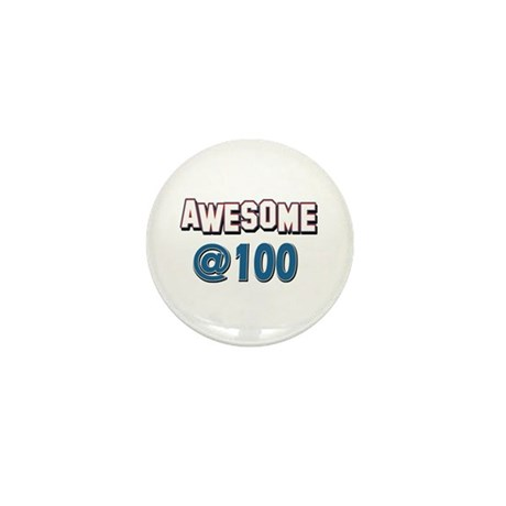 Awesome at 100 Mini Button (100 pack)