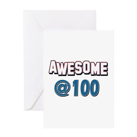 Awesome at 100 Greeting Card