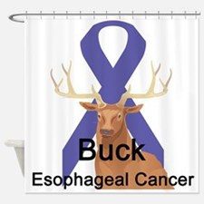 buck-esophageal-cancer.png Shower Curtain