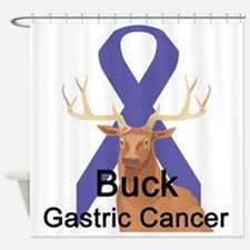 buck-gastric-cancer.png Shower Curtain