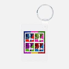Border Collie Pop Art Keychains