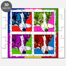 Border Collie Pop Art Puzzle