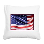 Old Glory Today Square Canvas Pillow