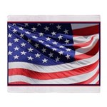 Old Glory Today Throw Blanket