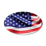 Old Glory Today 20x12 Oval Wall Decal