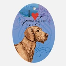 Wirehaired Vizsla Ornament (Oval)